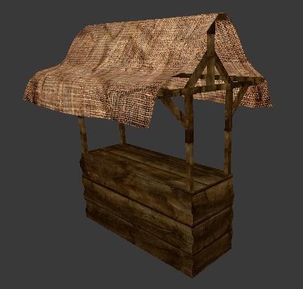 market stall 3d model