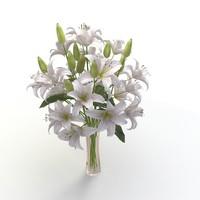 lily flower vase 3d model