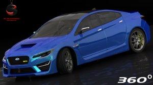 3dsmax subaru wrx concept 2016
