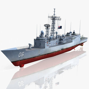 3d model hmas newcastle ffg 06