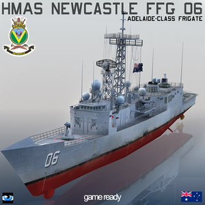 hmas newcastle ffg 06 3d 3ds