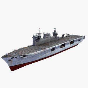 hms ocean l12 ship 3d max