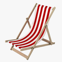 3d model beachchair realistic