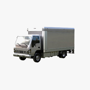 3d model light box truck