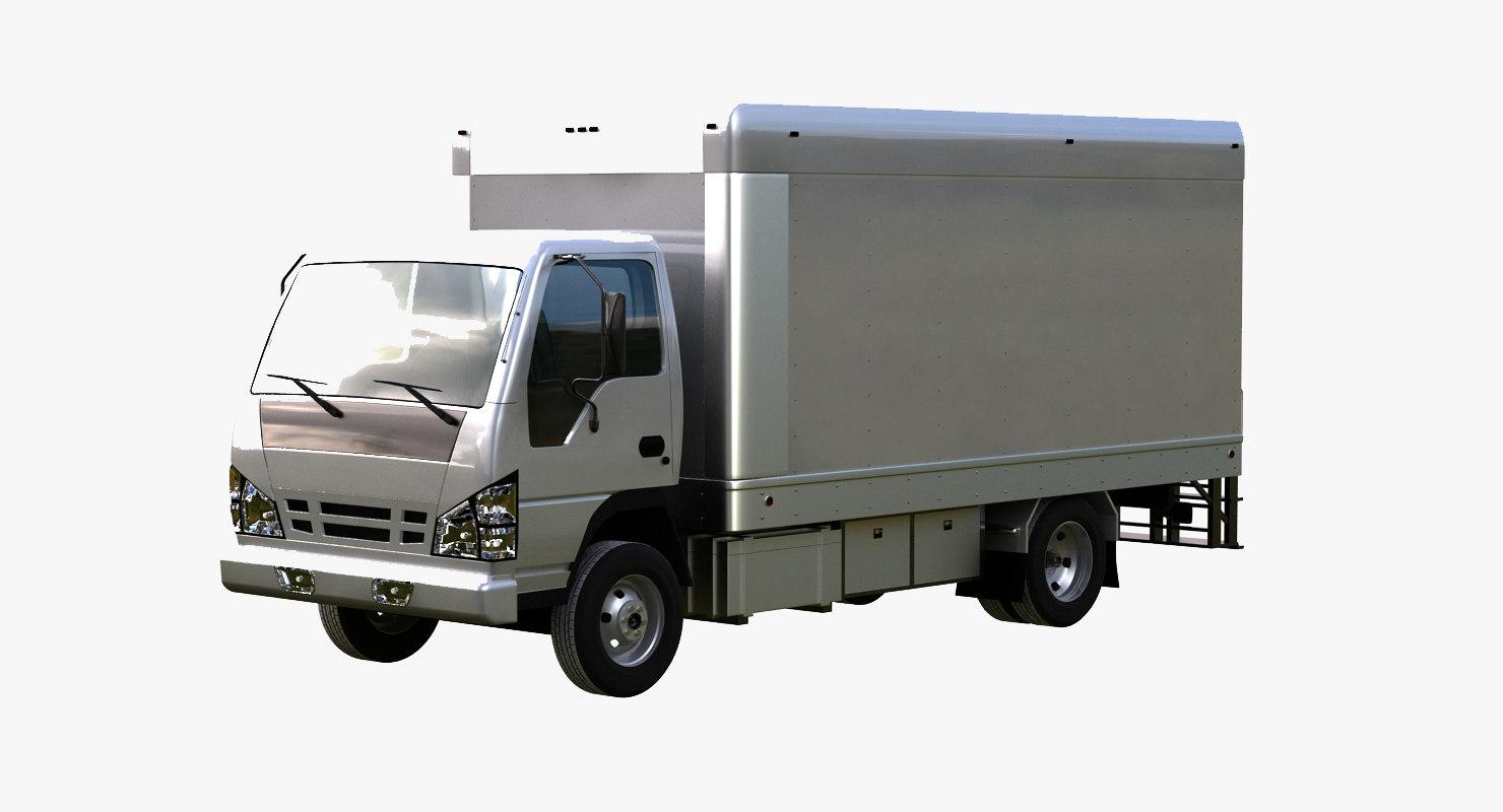 3d model light box truck