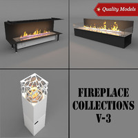 realistic fireplace 3d 3ds