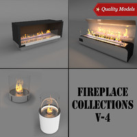 realistic fireplace 3d max