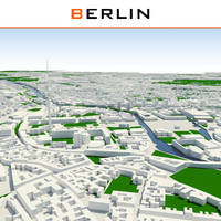 3d berlin cityscape model
