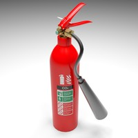 extinguisher co2 3d model