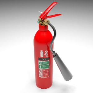 extinguisher co2 3d model