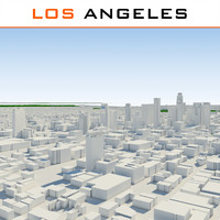 3d los angeles cityscape model