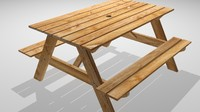 3d model picnic table