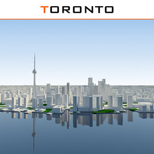 3d max toronto cityscape