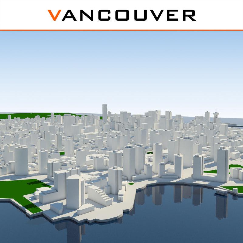 vancouver cityscape 3d model