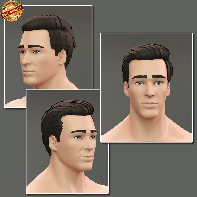 modeled male realistic human 3d model