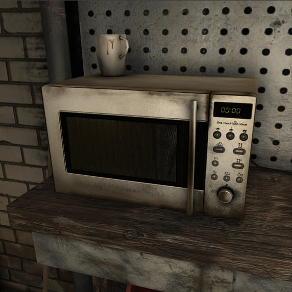 microwave real time 3d model