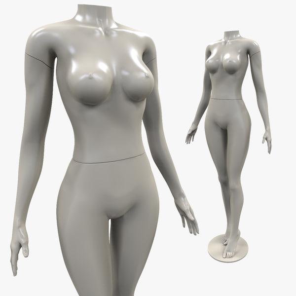 3ds max realistic manequin