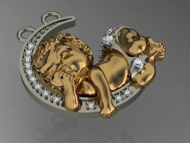 3d baby pendant