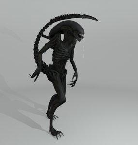 3d model of xenomorph alien creature