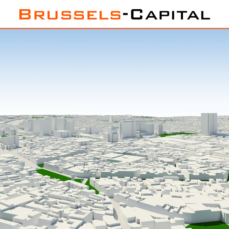 brussels-capital region cityscape 3d obj