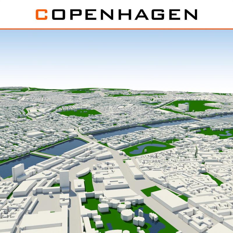 copenhagen cityscape dxf