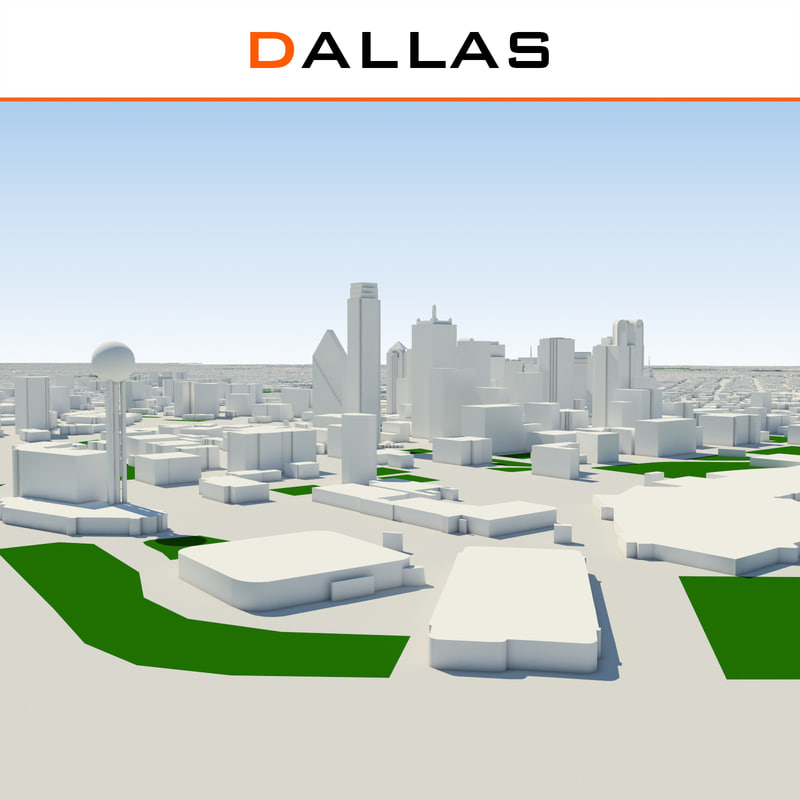 3d model dallas cityscape