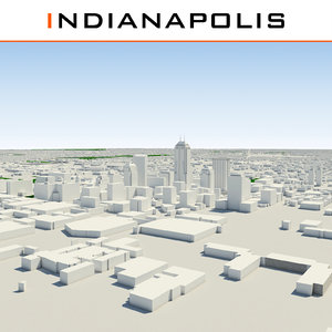 3ds max indianapolis indiana cityscape