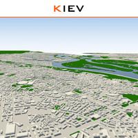 kiev cityscape 3d model