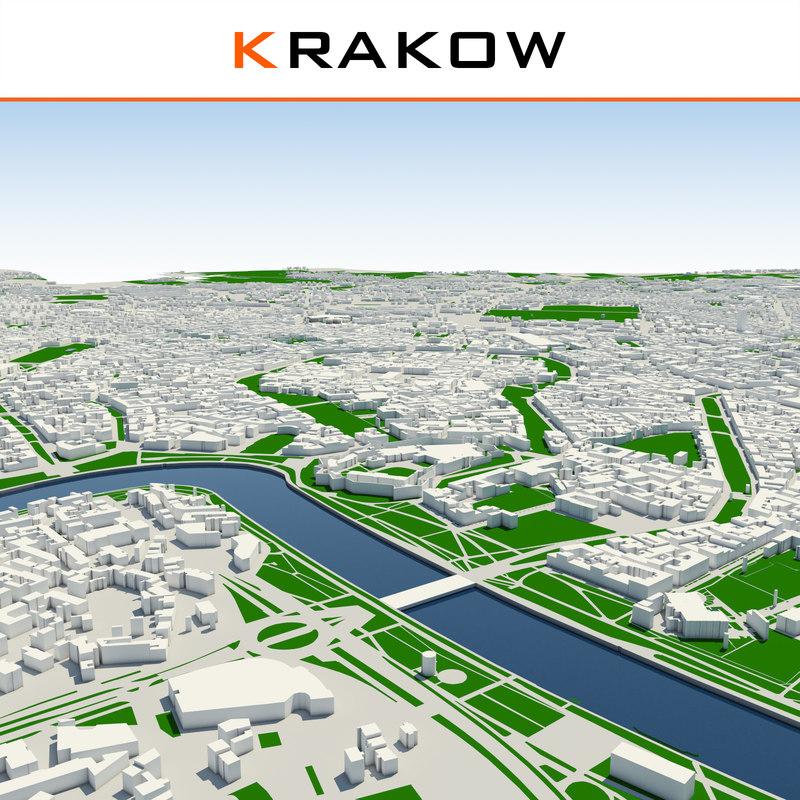 3ds max krakow cityscape