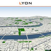 3ds max lyon cityscape