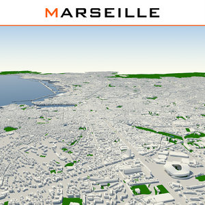 3d model marseille cityscape