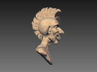 3d model punk bust head