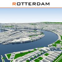 3dsmax rotterdam cityscape