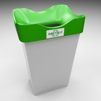 recycling bin 3d model