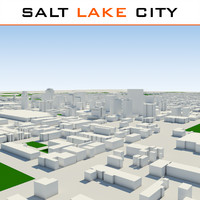 salt lake city cityscape 3d model