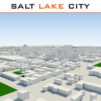 salt lake city cityscape 3d model