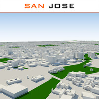 3d model san jose cityscape