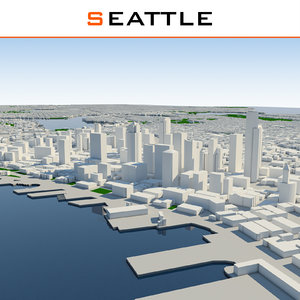 3d seattle cityscape