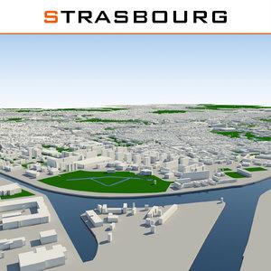 3d strasbourg cityscape model