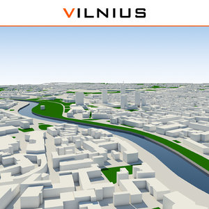 3d vilnius cityscape model