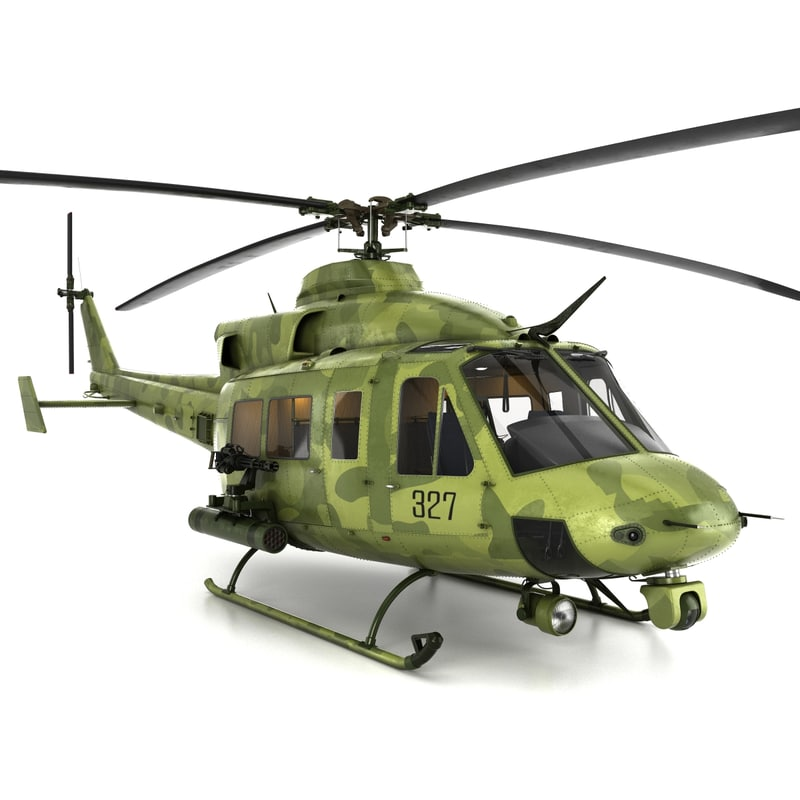 3d model bell ch-146 helicopter