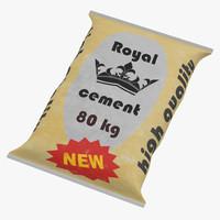 3d cement bag 2 model