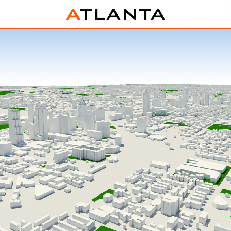 atlanta cityscape 3d max