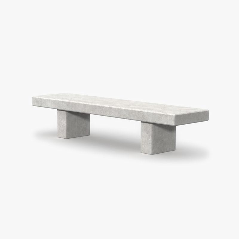 3d concrete bench model