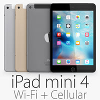3d model of ipad mini 4 wi-fi