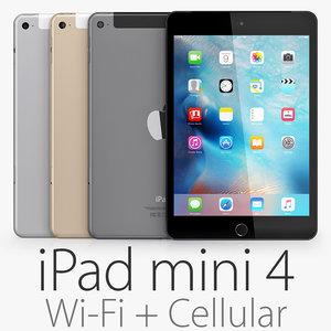 3d model of ipad mini 4 wi-fi