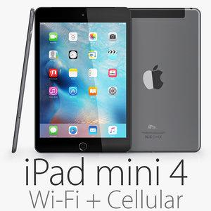 ipad mini 4 wi-fi c4d
