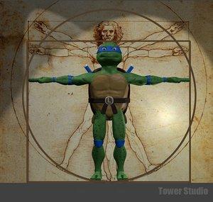 3d model teenage mutant ninja turtles