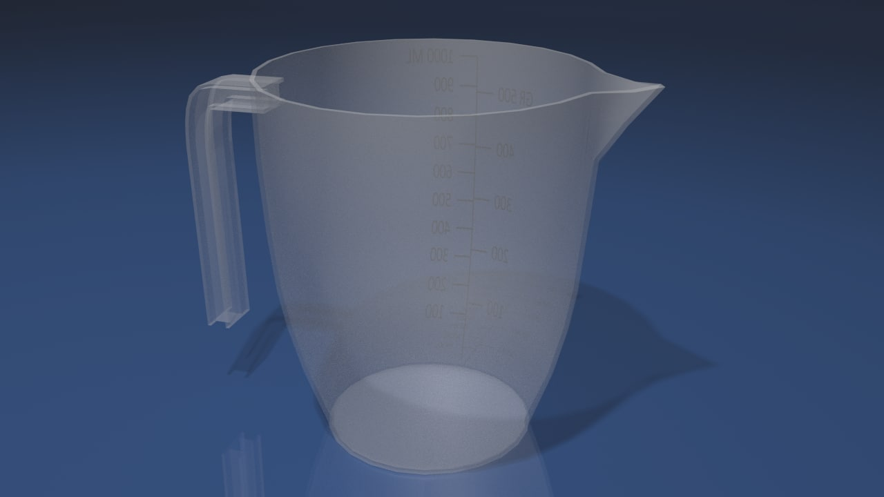 measuring cup 3d 3ds