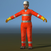 3d obj worker safety gear